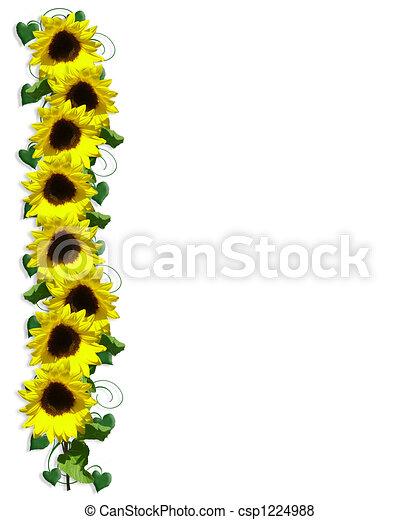 stock illustration of sunflower border illustration and Free Summer Clip Art springtime clipart free