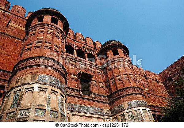 Agra Fort - famous landmark, India - csp12251172