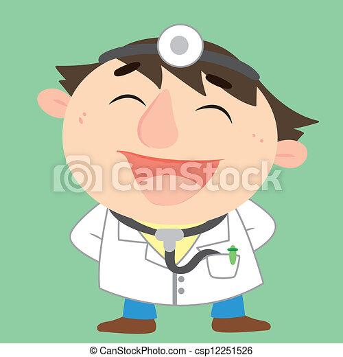 a happy doctor, vector illustration - csp12251526