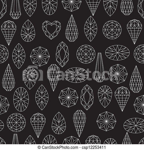 Flowers from diamond design element - csp12253411