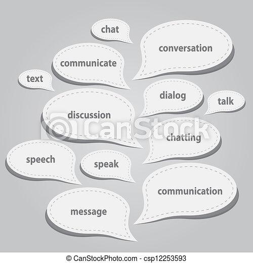 communication bubbles - csp12253593