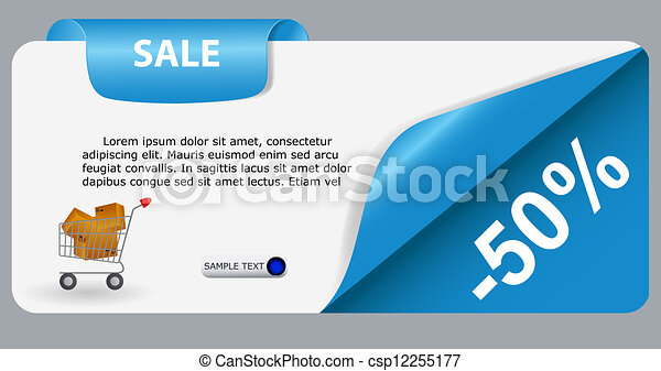 Sale banner with place for your text. vector illustration - csp12255177
