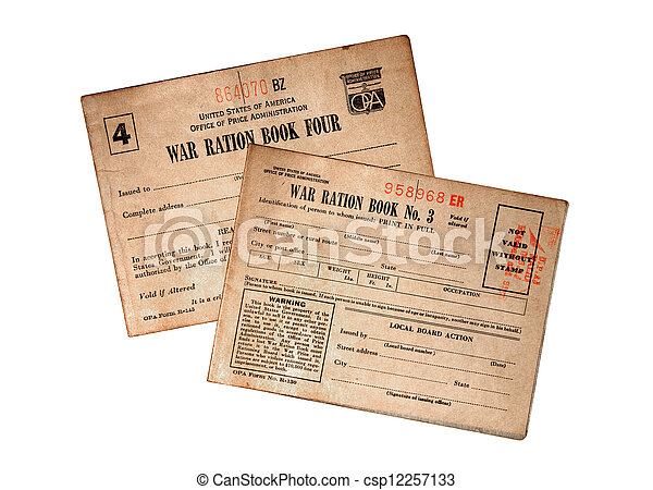 WWII Food Ration Books - csp12257133