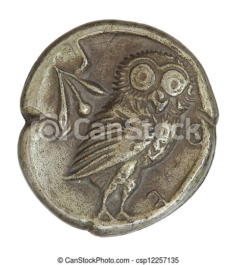 Antique Greek Silver Coin - csp12257135