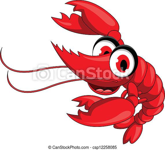 Shrimp Logo Vector Shrimp Cartoon Vector