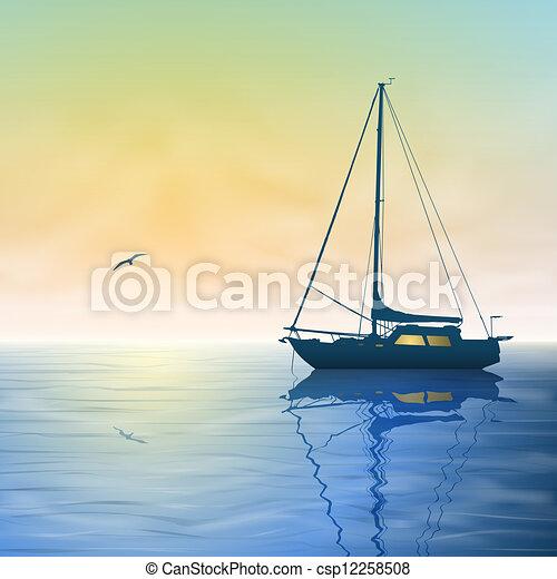 Sailing Boat Clipart Sailing Boat Csp12258508