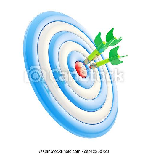 Aim Target Logo Target Aim Glossy Mark With