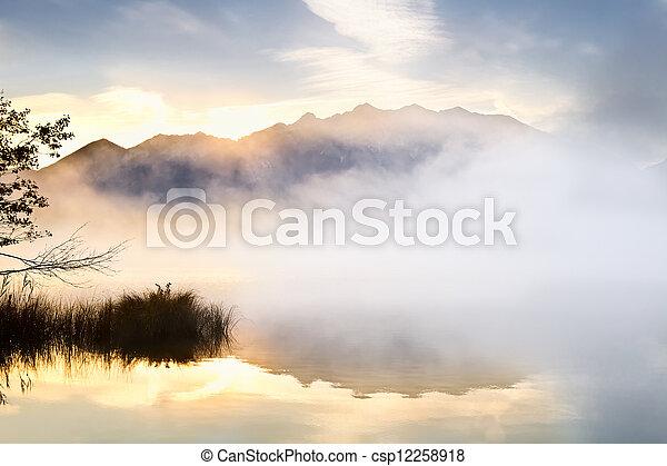 sunrise over high Alps - csp12258918