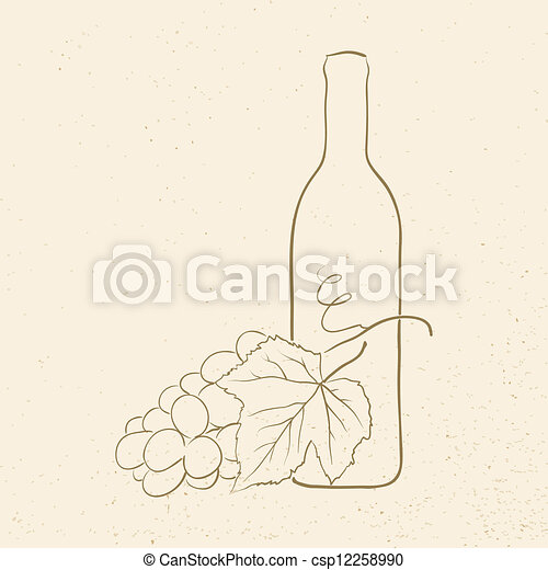 wine and grapes - csp12258990