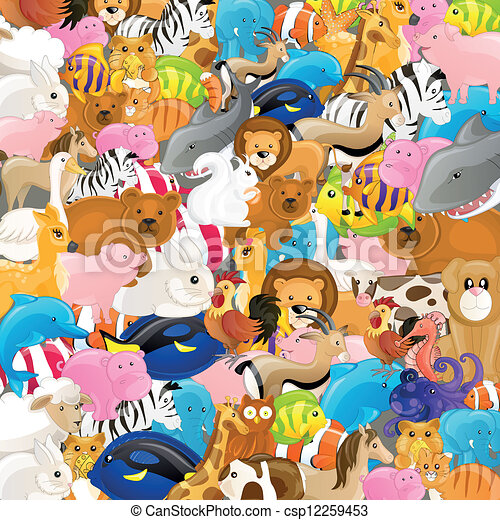 Vector Backgrounf with Animals - csp12259453