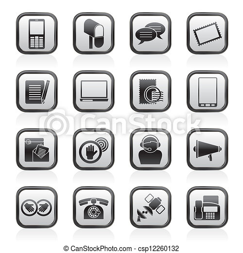 Contact and communication icons - csp12260132