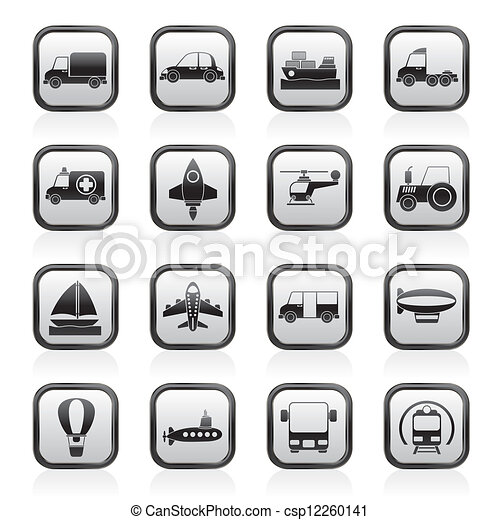 Transportation icons - csp12260141