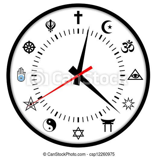 religions clock - csp12260975