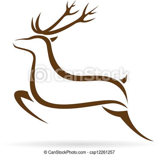 Vector image of an deer - csp12261257