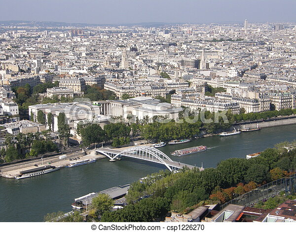 Aerial View of Paris - csp1226270