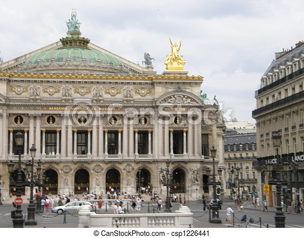 Opera in Paris, France - csp1226441