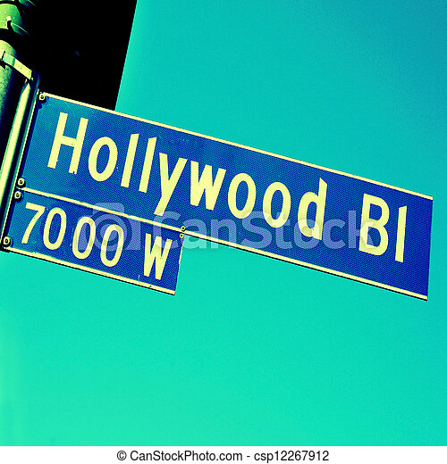 Hollywood Boulevard sign - csp12267912
