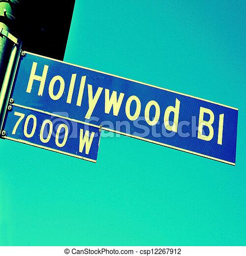 Hollywood Boulevard sign - csp12267912