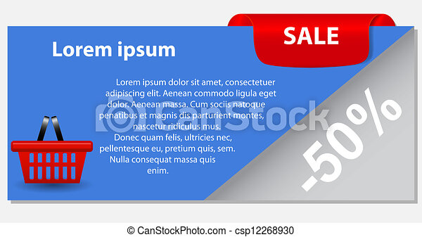 Sale banner with place for your text. vector illustration - csp12268930
