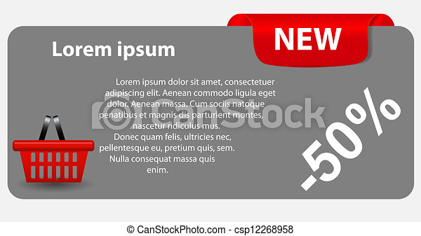 Sale banner with place for your text. vector illustration - csp12268958
