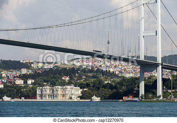 Istambul - Bosporus Bridge connecting Europe and Asia  - csp12270970