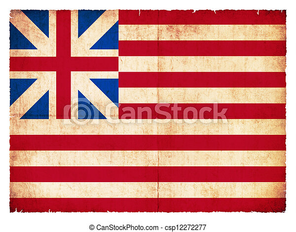 Historic Grunge flag of the USA - csp12272277