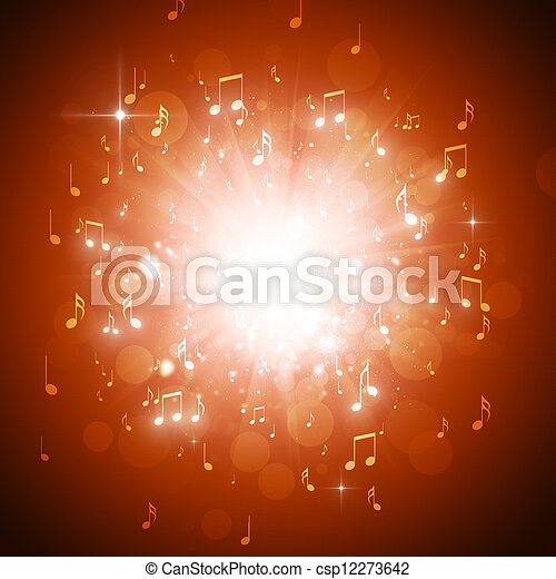 musik antecknar, explosion - csp12273642