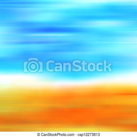 Abstract hand drawn paint background: fall landscape with yellow leaves and blue sky. Great for art texture, grunge design, and vintage paper - csp12273813