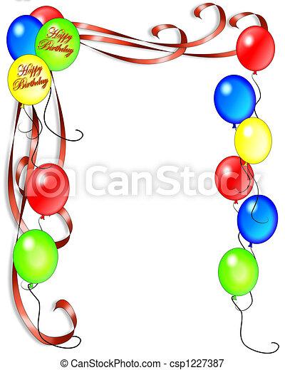 Illustrations de anniversaire, Ballons, invitation - anniversaire, Ballons,... csp1227387 ...
