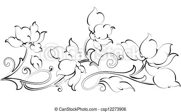Vector Clipart Of Floral Design Element Floral Border