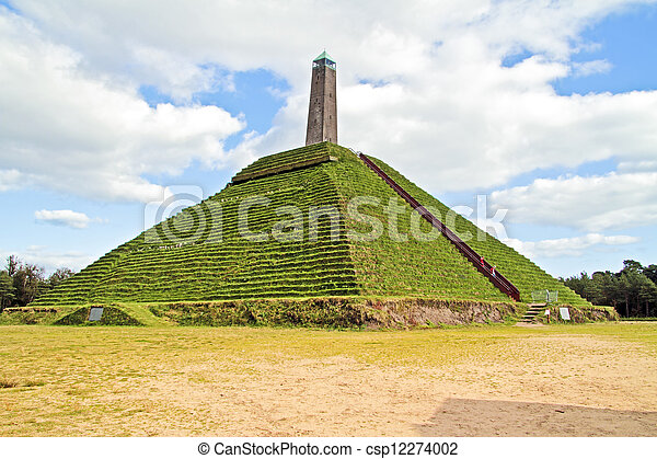 Pyramid from Austerlitz built in 1804 in the Netherlands - csp12274002