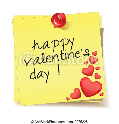 message happy valentine's day - csp12275228