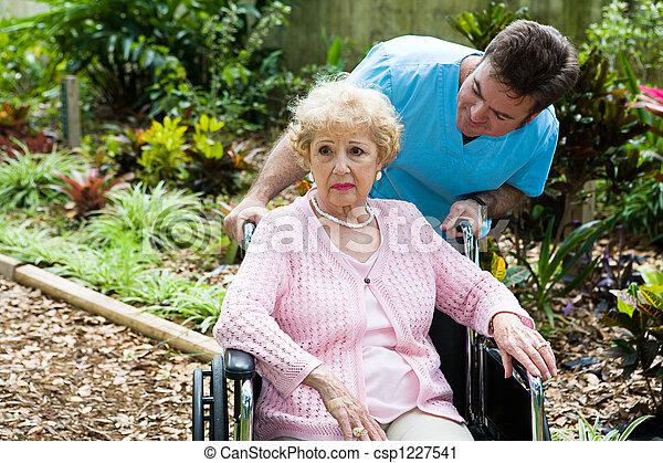 Elderly and Depressed - csp1227541