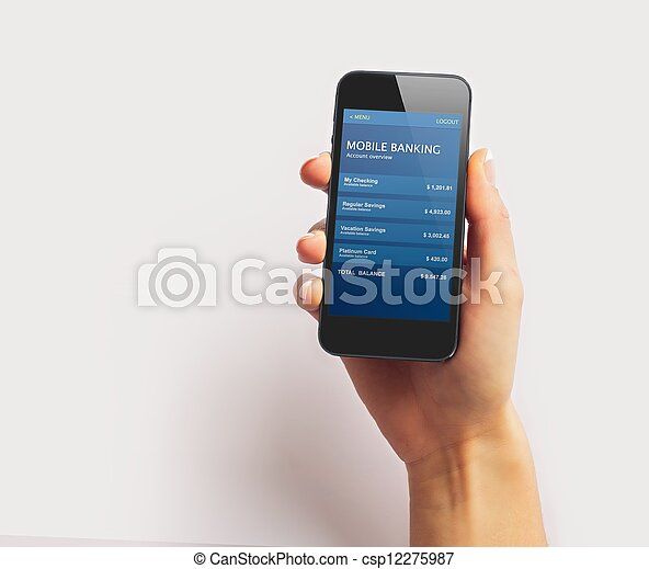 Smartphone on White Background - csp12275987