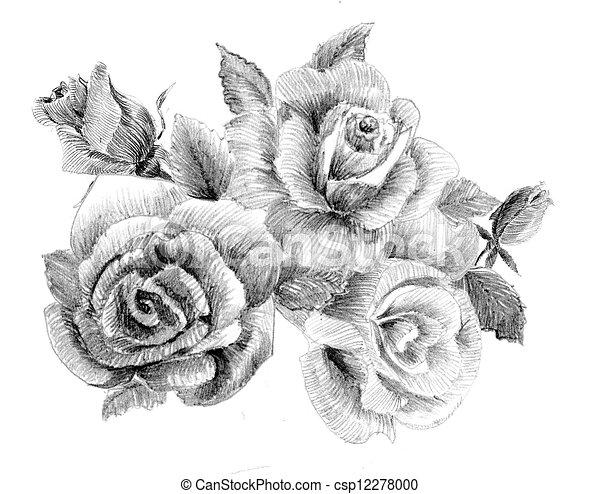 bouquet of roses clip art