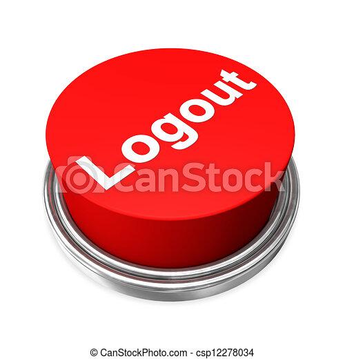 Logout Button Logo Logout Button Csp12278034
