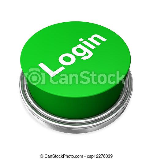 Login Buttons Icons Login Button Green Login