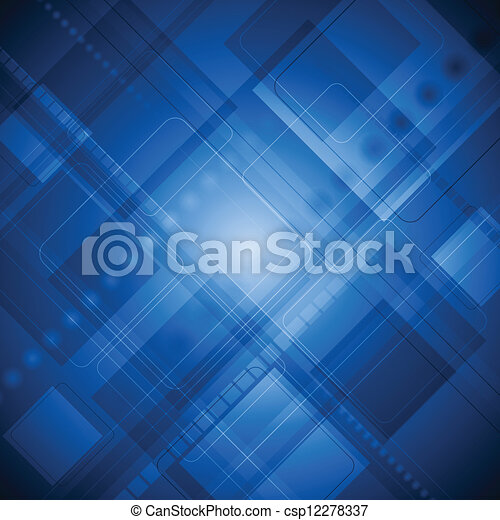 Blue technology background - csp12278337