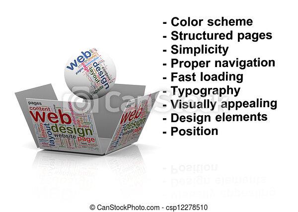 Stock illustration 3d begriff von effektiv web entwerfen