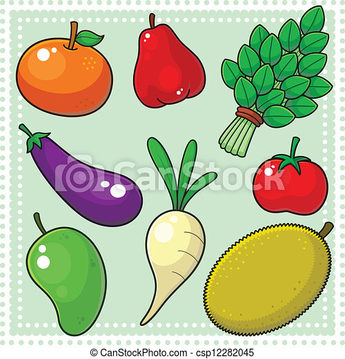 EPS Vector of Fruits & Vegetables 02 - Image of nature ...