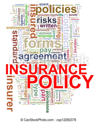 Word tags of insurance policy - csp12282376