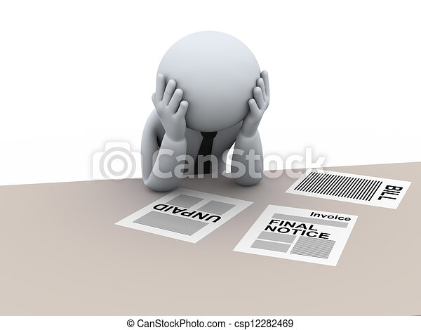 3d frustrated business man - csp12282469