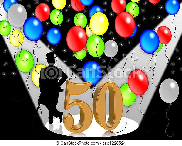 cumpleaños,  50, invitación, años - csp1228524