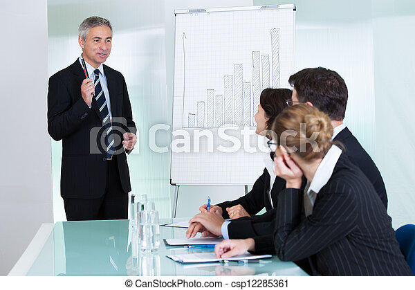 In-house business training - csp12285361
