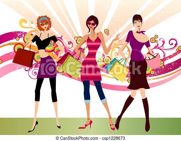 fashion girls - csp1228673