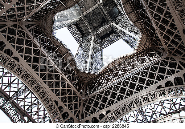 The Eiffel tower is one of the most recognizable landmarks in the world. - csp12286845
