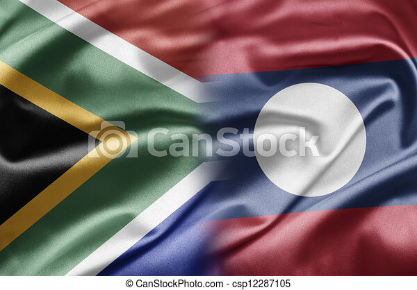 South Africa and Laos - csp12287105