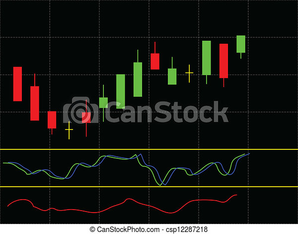 Stock Chart - csp12287218