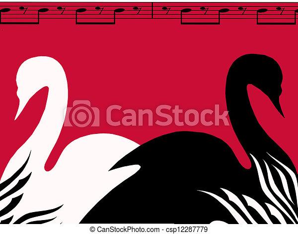 Swan Lake Clipart Swan lake poster