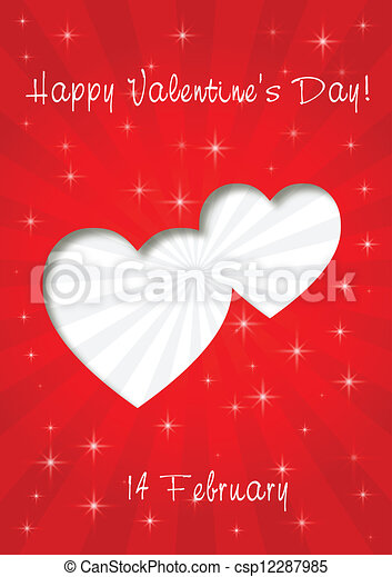 happy valentines day card - csp12287985